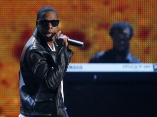 Jay-Z performs D.O.A. at the 2009 BET Awards in June.