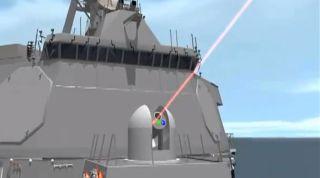 US Navy laser