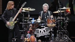 Joey Kramer at the kit