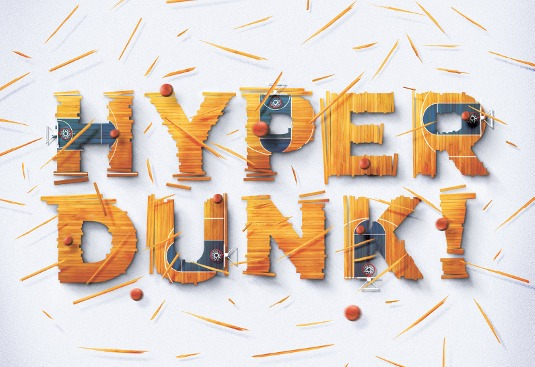 Create illustrated type for advertising