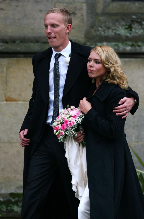 Laurence Fox and Billie Piper on their wedding day