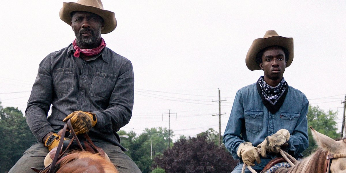 How Concrete Cowboy's Caleb McLaughlin And Idris Elba Approached Their Father-Son Relationship