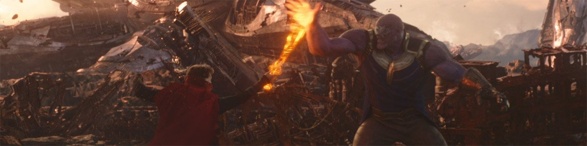 Doctor Strange (Benedict Cumberbatch) uses an energy sword in Avengers Infinity War