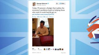 It s budget day so George Osborne s joined Twitter