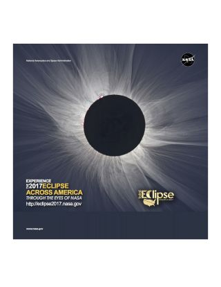 Total solar eclipse 2017 poster