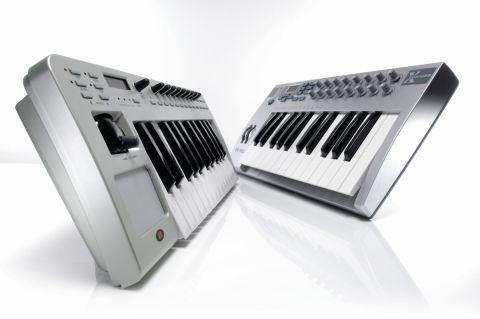 The E-mu Xboard 25 (right) is a slimline keyboard.