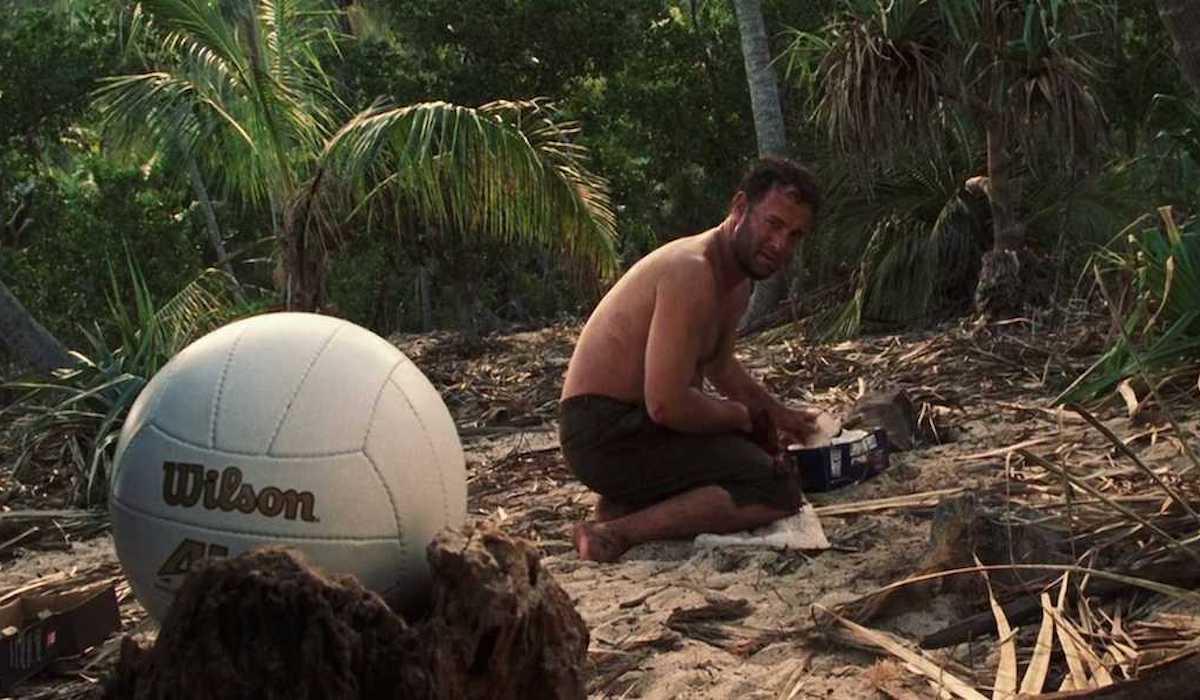 Tom Hanks and Wilson in Cast Away