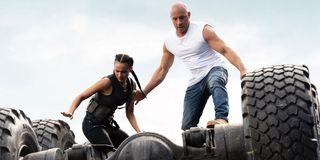 Nathalie Emmanuel and Vin Diesel in F9