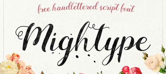 Free handwriting fonts: Mightype