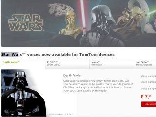 TomTom teams up with Lord Vader
