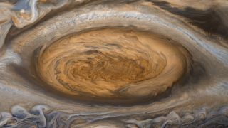 Jupiter's Great Red Spot by Voyager 2