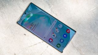 Galaxy Note 10 Plus overhead