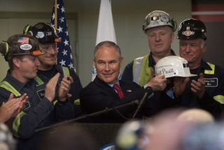 scott pruitt with coal miners