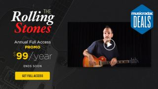 Guitar Tricks is offering 45% off an annual sub and Rolling Stones song lessons bundle