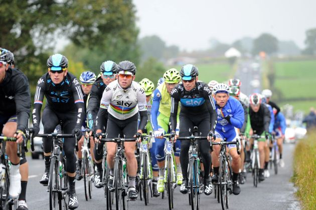 Bradley Wiggins, Mark Cavendish and Jeremy Hunt, Tour of Britain 2012, stage four