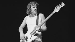 A shot of John Wetton on stage