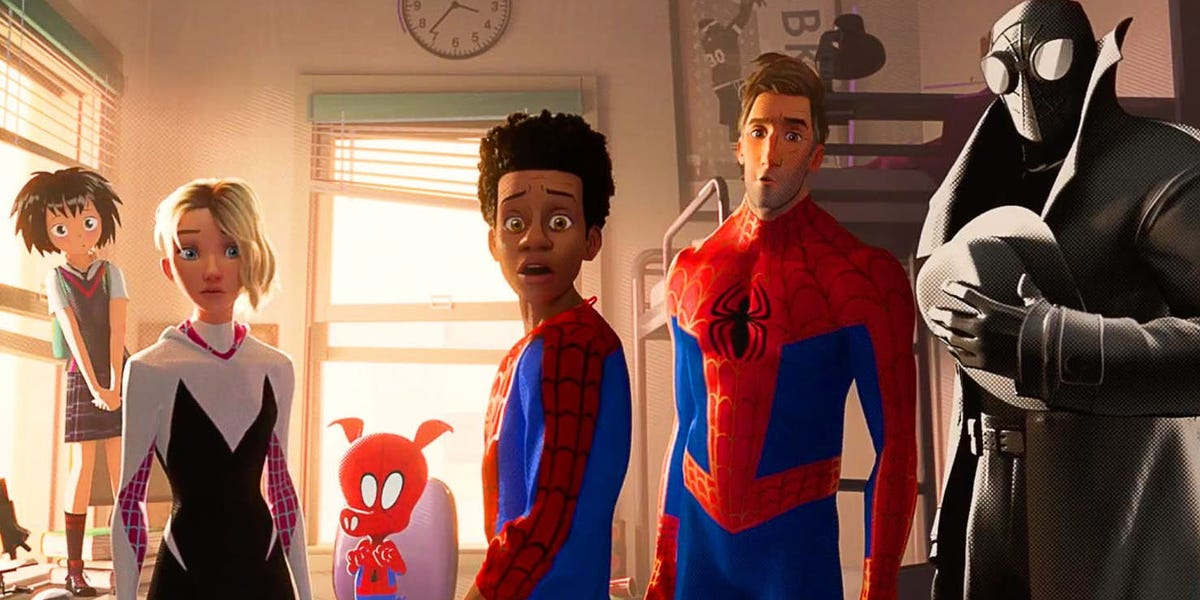 All of the different 'Spider-Mans' in Into the Spider-Verse