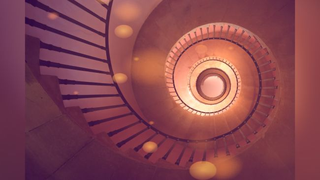 Photoshop tutorials: Spiral staircase