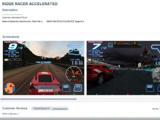 False start for Ridge Racer - with no 3G iPhone version at launch, and only two cars and two tracks to play with...