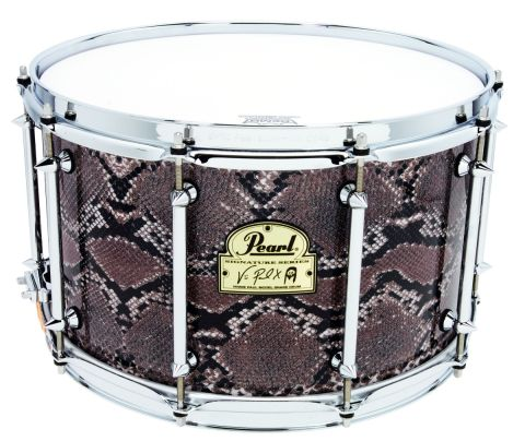 """The 8"""" deep drum here is the biggest in the Pearl snare line-up."""
