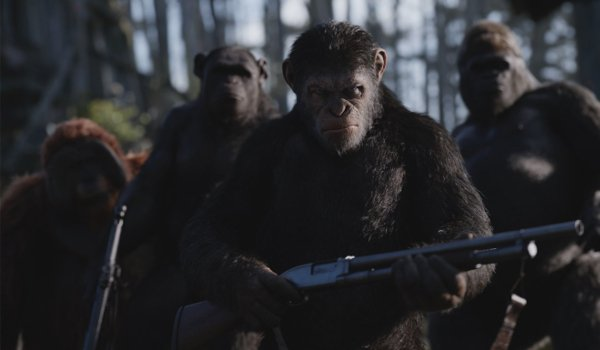 War for the Planet of the Apes Caesar and his legion with guns