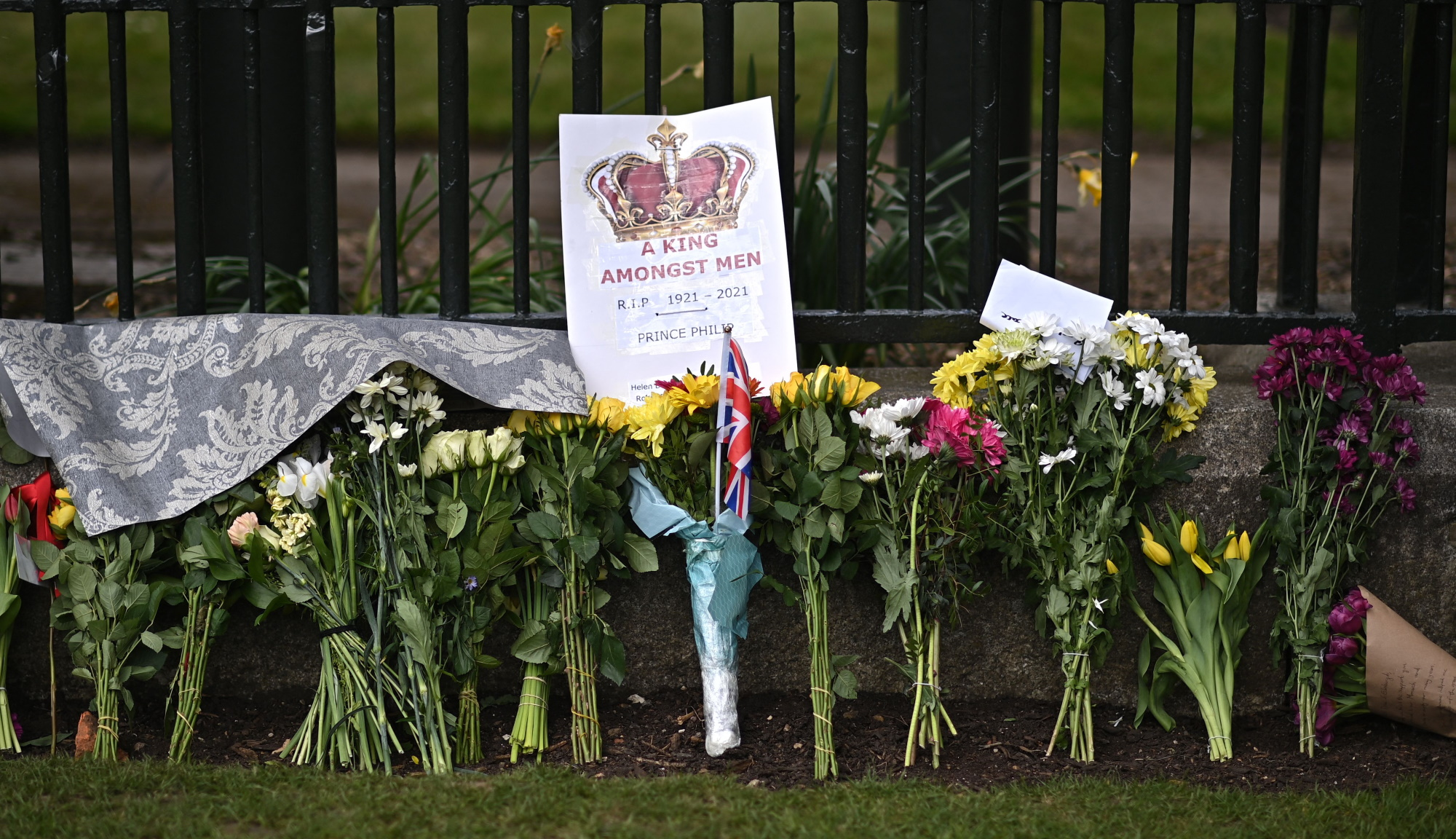 Flowers at St George's Chapel for Prince Philip's funeral