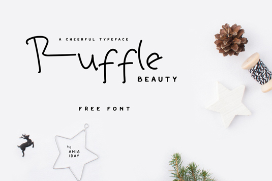 Free handwriting fonts: Ruffle Beauty