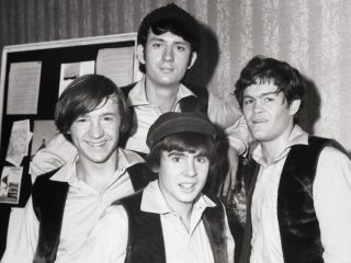 Davy Jones bottom center with from left Peter Tork Mike Nesmith and Micky Dolenz