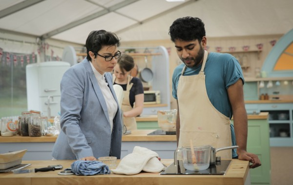 The Great British Bake Off's Tamal, with Sue Perkins
