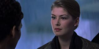 Die Another Day Rosamund Pike faces down Halle Berry in the ice hotel