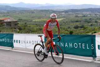 GUARDIA SANFRAMONDI ITALY MAY 15 Victor Lafay of France and Team Cofidis attacks in the Breakaway during the 104th Giro dItalia 2021 Stage 8 a 170km stage from Foggia to Guardia Sanframondi 455m girodiitalia Giro UCIworldtour on May 15 2021 in Guardia Sanframondi Italy Photo by Tim de WaeleGetty Images