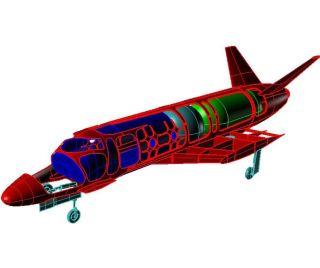 Vinci Suborbital Space Plane Structure