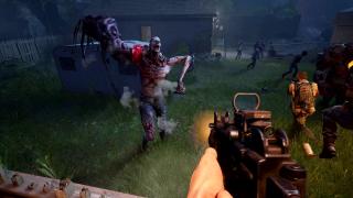 Shooting a gun at a gnarly ridden monster