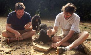 Ben Garrod and Jimmy Desmond Baby Chimp Rescue