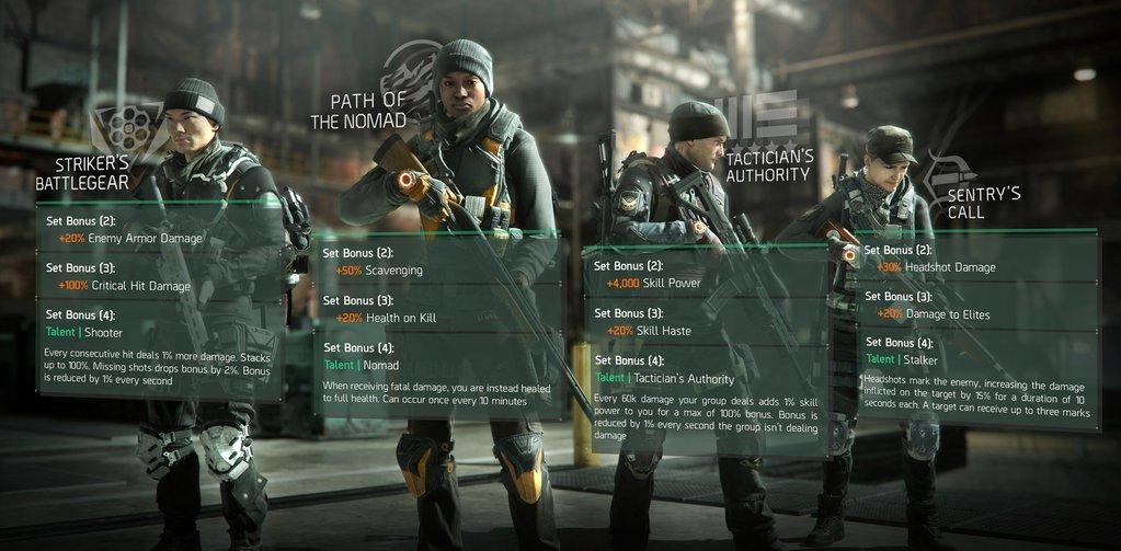 The Division: new gear sets detailed ahead of this week's patch