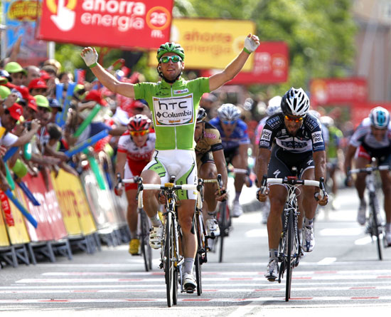 Mark Cavendish wins, Vuelta a Espana 2010, stage 18