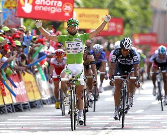 Mark Cavendish wins, Vuelta a Espana 2010, stage 18