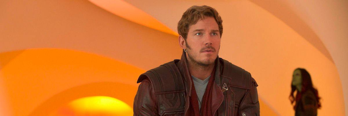 Chris Pratt's Peter Quill in Guardians of the Galaxy Vol. 2