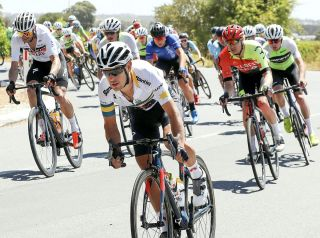 Richie Porte riding for Team Garmin Australia at the Santos Festival of Cycling