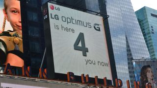 LG advertisement in Times Squre