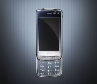 The LG GD900 - with transparent keypad