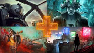New PC games - a screenshot from Starfield, Ruined King, Ghostwire: Tokyo, and Far Cry 6 going clockwise