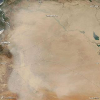 dust storm images, what a dust storm looks like, middle east weather images, sand storm satellite photo