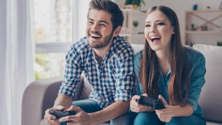Friends playing the best games console