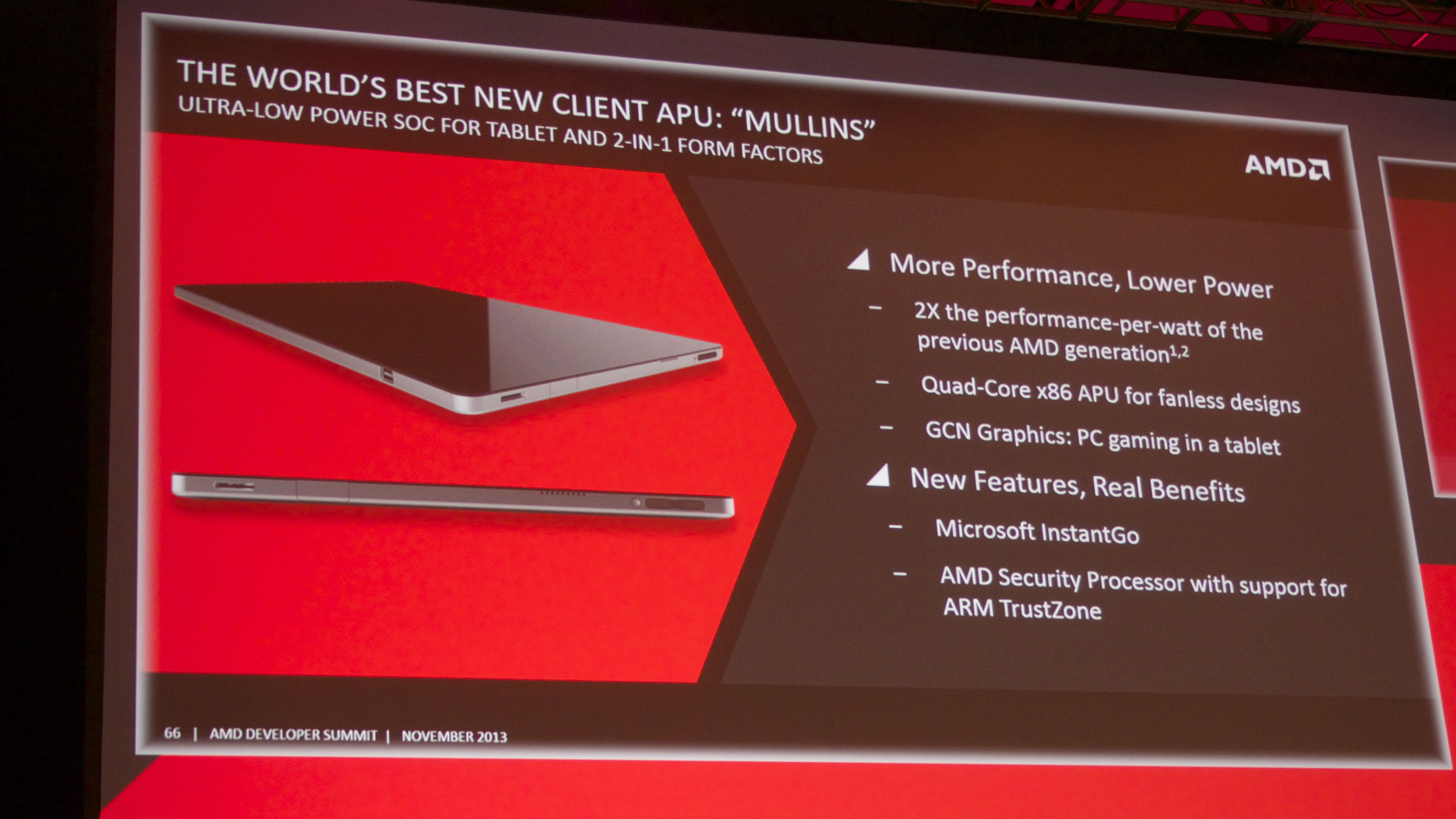 AMD unveils Beema, Mullins APUs for fanless tablets, 2-in-1s and