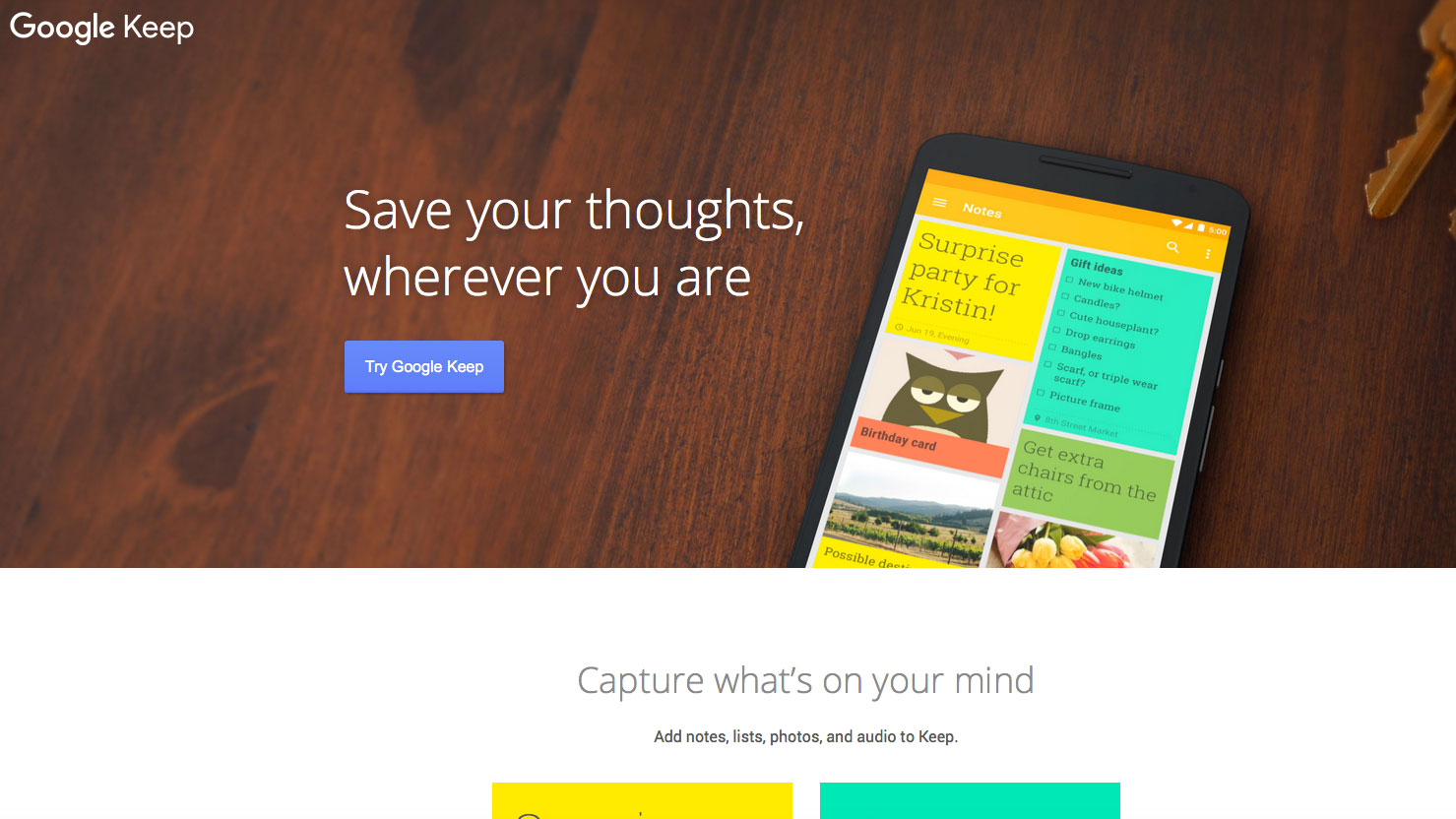 Online collaboration tools: Google Keep