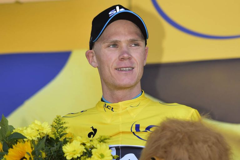 Chris Froome on stage three of the 2015 Tour de France