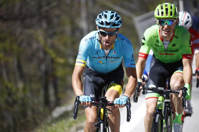 Michele Scarponi in action at the Tour of the Alps