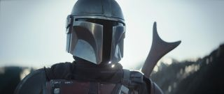 Pedro Pascal is the Mandalorian in the Disney+ series The Mandalorian