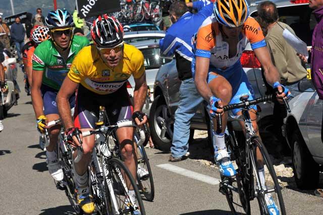 Cadel Evans David Millar Alberto Contador Dauphine Libere 2009 stage 5